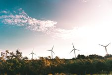 Free Windmill Near Green Trees Stock Images - 109909834