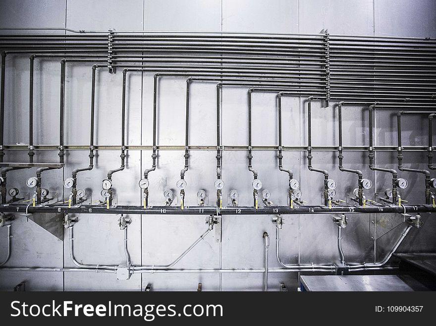 Gray Steel Tubes