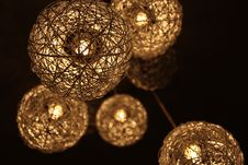 Free Closeup Photo Of Brown Round Twig Pendant Lamps Stock Photography - 109910282