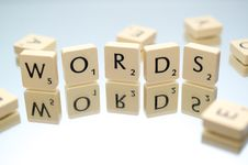 Free Words Text Scrabble Blocks Stock Image - 109910321