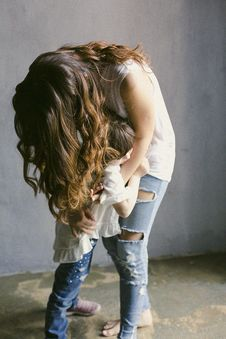 Free Mother Hugging Her Daughter Royalty Free Stock Image - 109910526