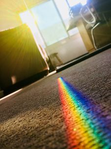 Free Rainbow Color Patch On Area Rug Stock Photos - 109910693