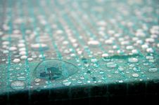 Free Green Tiles With Waterdrops Stock Photo - 109910720