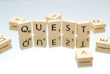 Free Quest Letter Blocks Royalty Free Stock Image - 109910856