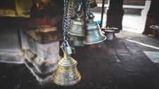 Free Four Gray Hanged Bells Stock Photo - 109910910