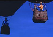 Free Man Wearing Orange T-shirt Riding On Brown Parachute Royalty Free Stock Photography - 109910977