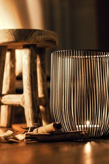 Free Gray Metal Candle Holder Stock Photography - 109911072