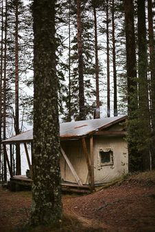 Free Cabin In The Woods Royalty Free Stock Image - 109911206