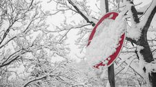 Free Road Signage Covered With Snow Stock Image - 109911321