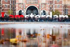 Free I Amsterdam Freestanding Letter In Front Of Ruks Museum Stock Photo - 109911470