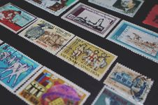 Free Assorted-colored Vietnam Postage Stamps Stock Photo - 109911530