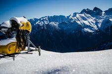 Free Machine On Snowy Mountain Royalty Free Stock Photo - 109911575
