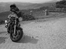 Free Grayscale Photo Of Standard Motorcycle Stock Photo - 109911740