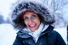 Free Close Up Photo Of Woman Wearing Black Zip-up Parka Coat During Snow Season Royalty Free Stock Image - 109911876