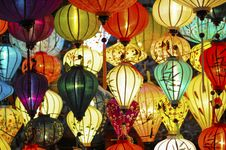 Free Assorted Colored Lighted Paper Lanterns Royalty Free Stock Images - 109911919