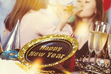 Free Happy New Year Decorative Plate Stock Image - 109911971