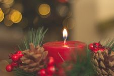 Free Red Lighted Candle Stock Photos - 109912103