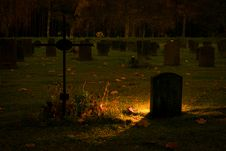 Free Silhouette Of Graves Royalty Free Stock Image - 109912216