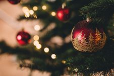 Free Christmas Tree With Baubles Stock Photos - 109912333