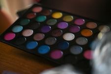 Free Colorful Make Up Palette Stock Photo - 109912370