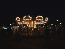 Free Photo Of Carnival Horse Carousel At Night Royalty Free Stock Images - 109912429