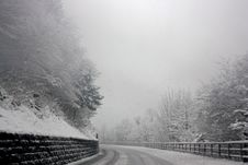 Free Photo Of Snowy Road Stock Photos - 109912543