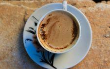 Free White Ceramic Mug With Coffee And White Ceramic Saucer Royalty Free Stock Photos - 109912608