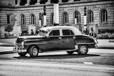 Free Grayscale Photo Of Classic Chevrolet Sedan Stock Image - 109912621