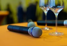 Free Photo Of Wireless Microphones On Top Of The Table Stock Image - 109912921
