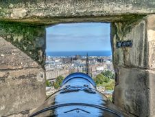 Free Selective Focus Photography Of Cannon And Buildings Royalty Free Stock Image - 109912926
