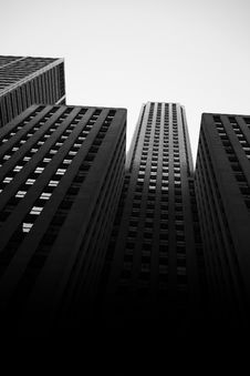 Free Monochrome Photo Of High-rise Buildings Stock Image - 109913101