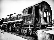 Free Grayscale Photo Of Train Royalty Free Stock Image - 109913386