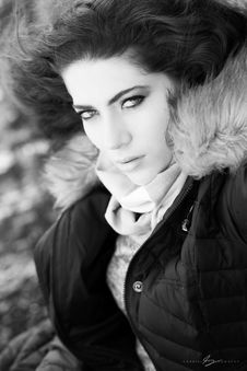 Free Photo Of Woman Wearing Brown And Black Zip-up Parka Jacket Stock Image - 109913441