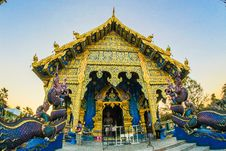 Free Photo Of Gold-colored Altar With Dragon Figurines Royalty Free Stock Photo - 109913525