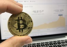 Free Round Gold-colored Bitcoin Royalty Free Stock Photography - 109913597
