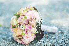 Free Bouquet Of Pink-and-white Petaled Flowers Stock Photos - 109913793