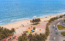 Free Aerial Photo Of Beach Beside Road Royalty Free Stock Photography - 109913867