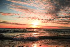 Free Seashore During Golden Hour Stock Images - 109914064