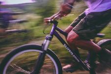Free Time Lapse Photo Of Man Riding On Bicycle Royalty Free Stock Image - 109914176