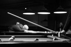 Free Grayscale Photo Of Man Holding Cue-stick Stock Photos - 109914183