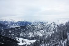 Free Scenic View Of Mountains Covered With Snow Stock Image - 109914251