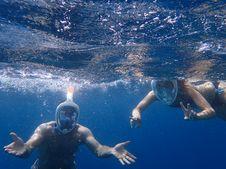 Free Photo Of People Snorkeling Underwater Stock Photos - 109914273