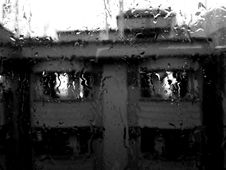 Free Rain Pouring On Glass Window Royalty Free Stock Images - 109914299