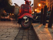 Free Selective Photography Of Red Motor Scooter Stock Photos - 109914313