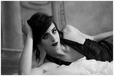 Free Woman In Black Top Lying On Bed Royalty Free Stock Images - 109914339