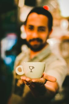 Free Focus Photography Of Man Holding Ceramic Teacup Royalty Free Stock Photography - 109914357