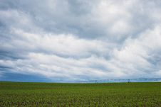 Free Green Grass Field Under Cumulonimbus Clouds Royalty Free Stock Images - 109914499