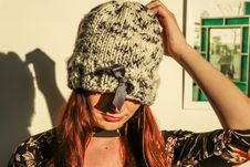 Free Closeup Photo Of Woman Wearing White And Black Knit Cap Royalty Free Stock Images - 109914899