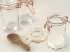 Free Two Clear Glass Jars Royalty Free Stock Images - 109915019