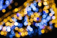 Free Macro Shot Of Yellow And Blue Lights Stock Photo - 109915050